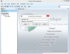 Open View Menu and Option DBA