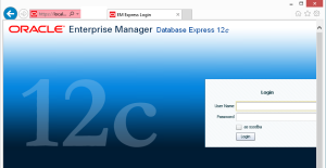 The Enterprise Manager Start Page