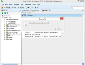 PDB is successfully OPENed