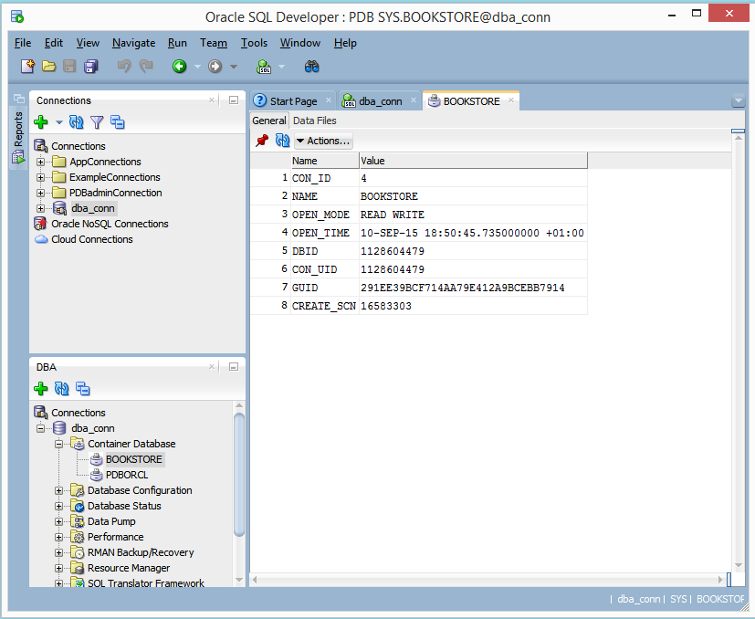 Create Pluggable Database using the seed database as a template (1/6)
